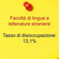 Quinto posto: lingue e letterature straniere