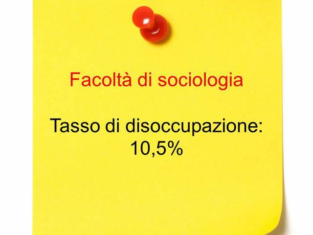 Undicesimo posto: sociologia