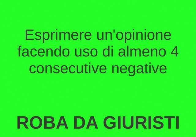 Consecutive negative