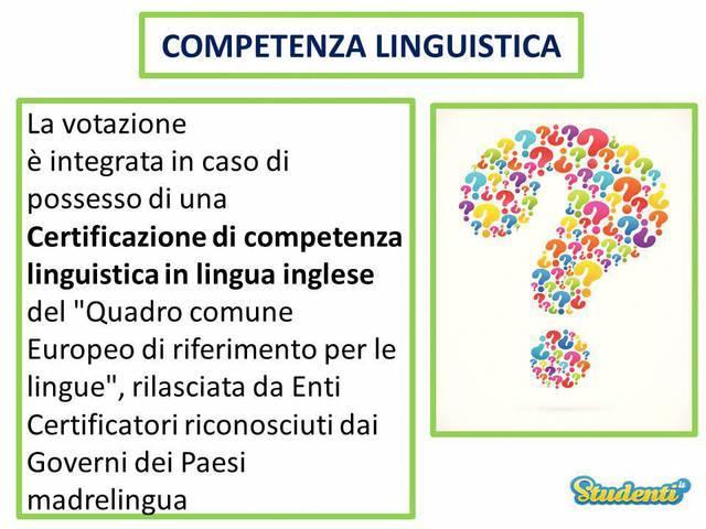 Il jolly: la competenza linguistica