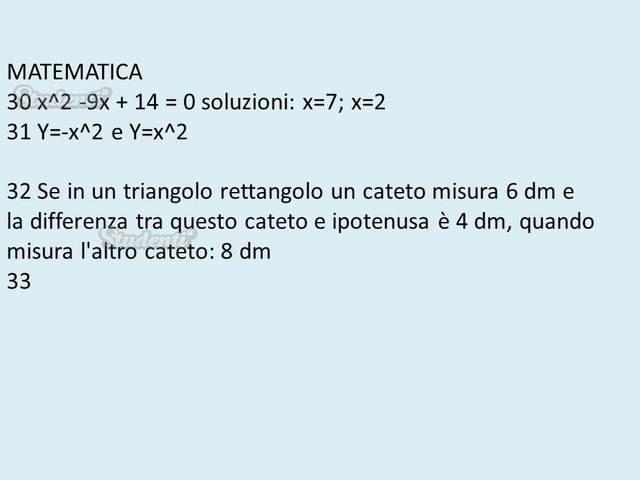 Domande e risposte di matematica | Professioni Sanitarie ...