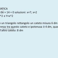 Domande e risposte di matematica