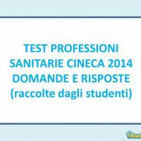 Test professioni Sanitarie 2014: anticipazioni