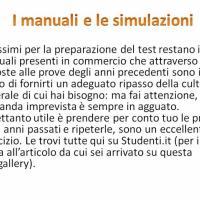 I manuali e le simulazioni