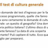 Il test di cultura generale