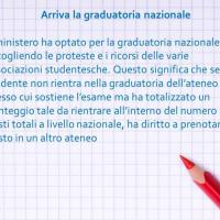 Arriva la graduatoria nazionale