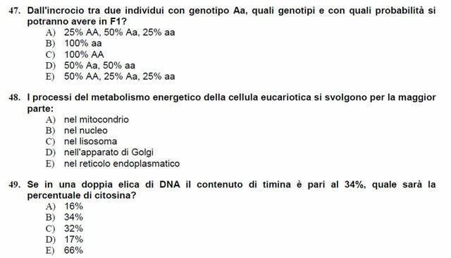 Test di Veterinaria: le domande del test di accesso 2016-2017