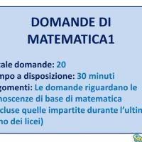 Le domande di Matematica 1