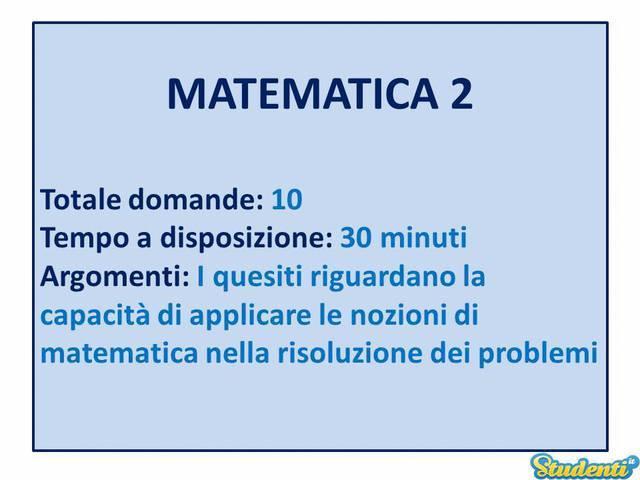 Le domande di Matematica 2
