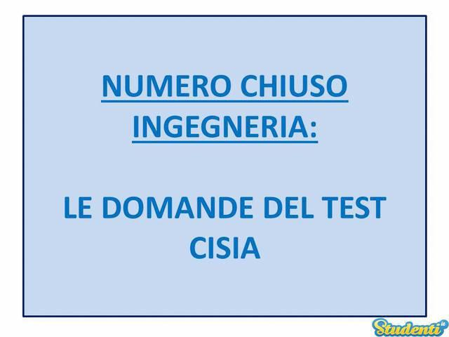 Numero chiuso: come funziona il Test CISIA?