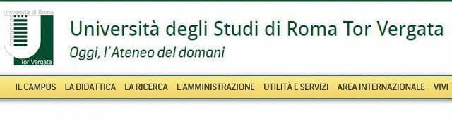 Immatricolazione Università Tor Vergata