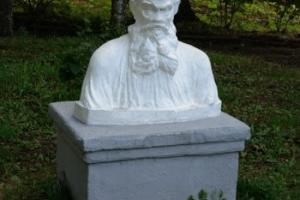 Statua di Lev Tolstoj, autore di Anna Karenina
