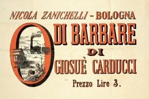 Le Odi Barbare pubblicate da Zanichelli nel 1877