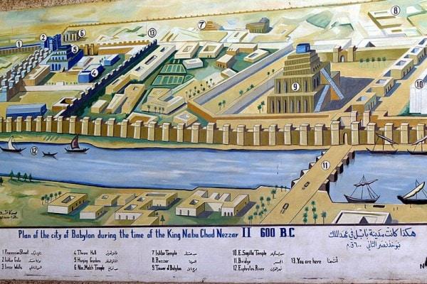 Piantina dell'antica Babilonia