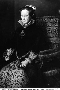 Dipinto raffigurante Maria Tudor, regina d'Inghilterra; opera conservata nella Galleria del Prado a Madrid