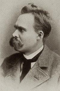 Foto di Friedrich Nietzsche, filosofo tedesco (1844 - 1900)