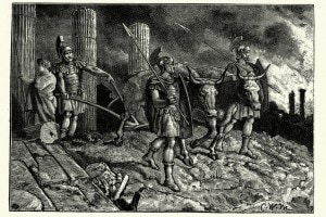 L'esercito romano sulle rovine di Cartagine