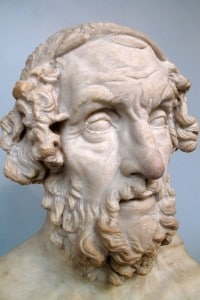 Mezzo busto di Omero