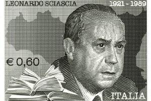 Francobollo con Leonardo Sciascia