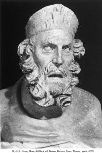 Platone, particolare della statua di Giovanni Pisano