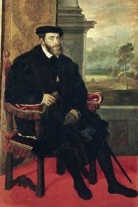 Ritratto dell'Imperatore Carlo V realizzato da Tiziano