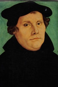 Martin Lutero in un'opera di Lucas Carnach (1529)