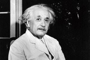 Il fisico Albert Einstein (Ulm 1879 - Princeton, New Jersey 1955)