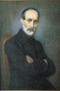 Ritratto di Giuseppe Mazzini, uno dei padri del Risorgimento italiano