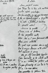 Il testo originale della poesia A Silvia