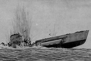 Prima guerra mondiale. La fine del sottomarino tedesco UC-38, 1917