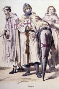 Disegno raffigurante tre templari