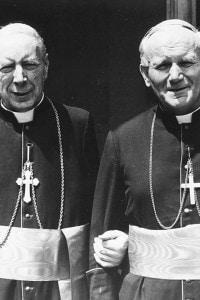 Cardinale Wyszynski con il Cardinale Wojtyla (Papa nel 1978)