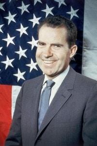 Il 37° presidente U.S.A., il repubblicano Richard Nixon  (1913 -1994) nel 1960
