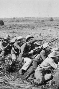 Soldati in trincea durante la Guerra Boera