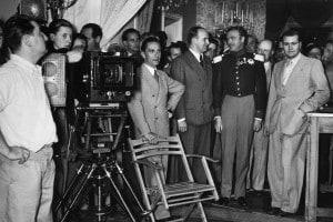 Joseph Goebbels durante le riprese di un film di propaganda nazista