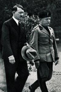 Foto di Hitler e Mussolini