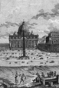 Veduta di San Pietro a Roma nel 1800