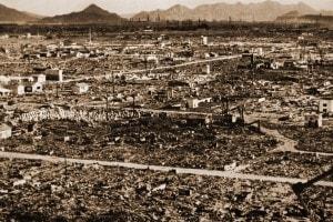 Hiroshima dopo lo scoppio della bomba atomica