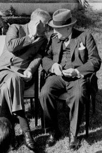 Roosevelt e Churchill durante la conferenza di Casablanca