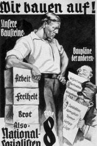 Manifesto di propaganda nazista