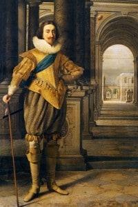 Carlo I Stuart ritratto dal pittore Daniel Mijten