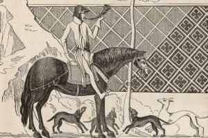 Disegno raffigurante Tristano, eroe della leggenda di Tristano e Isotta