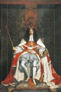 Ritratto del re Carlo II Stuart. Dipinto di John Michael Wright
