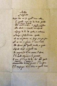Il testo autografo dell'Infinito di Leopardi
