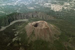 Il vulcano Vesuvio a Napoli