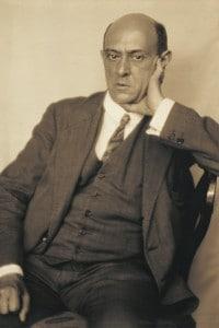 Foto del compositore austriaco Arnold Schonberg