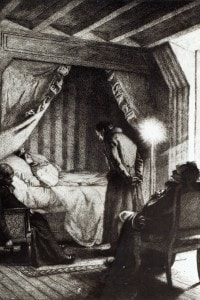 La morte di Emma Bovary in un'illustrazione di Carlo Chessa