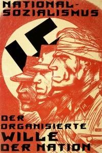 Manifesto nazista con riferimento al concetto di volontà (Wille) organizzata espresso da Nietzsche