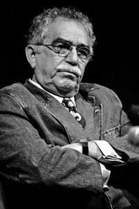 Lo scrittore sudamericano Gabriel Garcia Marquez