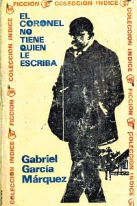 """Copertina del romanzo """"Nessuno scrive al colonnello"""" di Gabriel García Marquez in lingua originale"""
